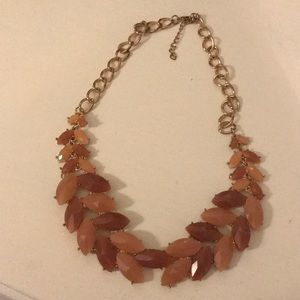 Brown tome statement necklace